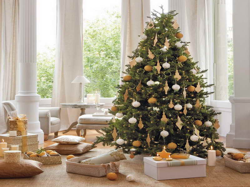 Decorating Ideas: Indoor Christmas Tree Decoration Ideas
