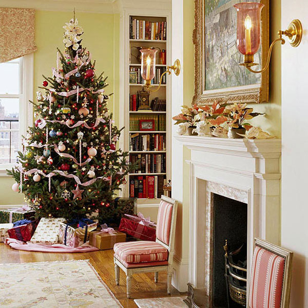 Simple Christmas Home Decorations: Indoor Christmas Tree Decoration Ideas