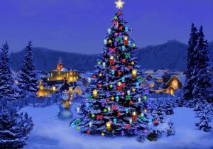 Outdoor christmas trees decorations 2014